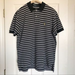 Polo Ralph Lauren Shirt Black & White Stripes XL